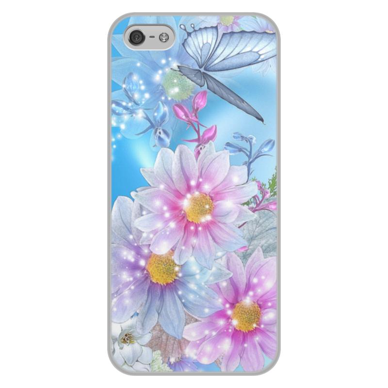 лучшая цена Чехол для iPhone 5/5S, объёмная печать Printio Цветы
