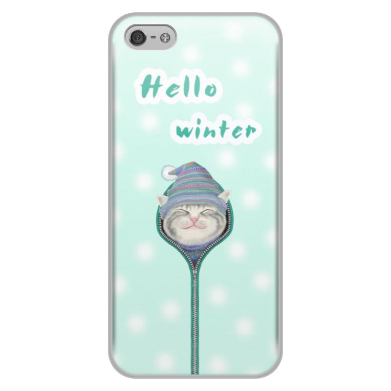 Чехол для iPhone 5/5S, объёмная печать Printio Привет зима цена и фото