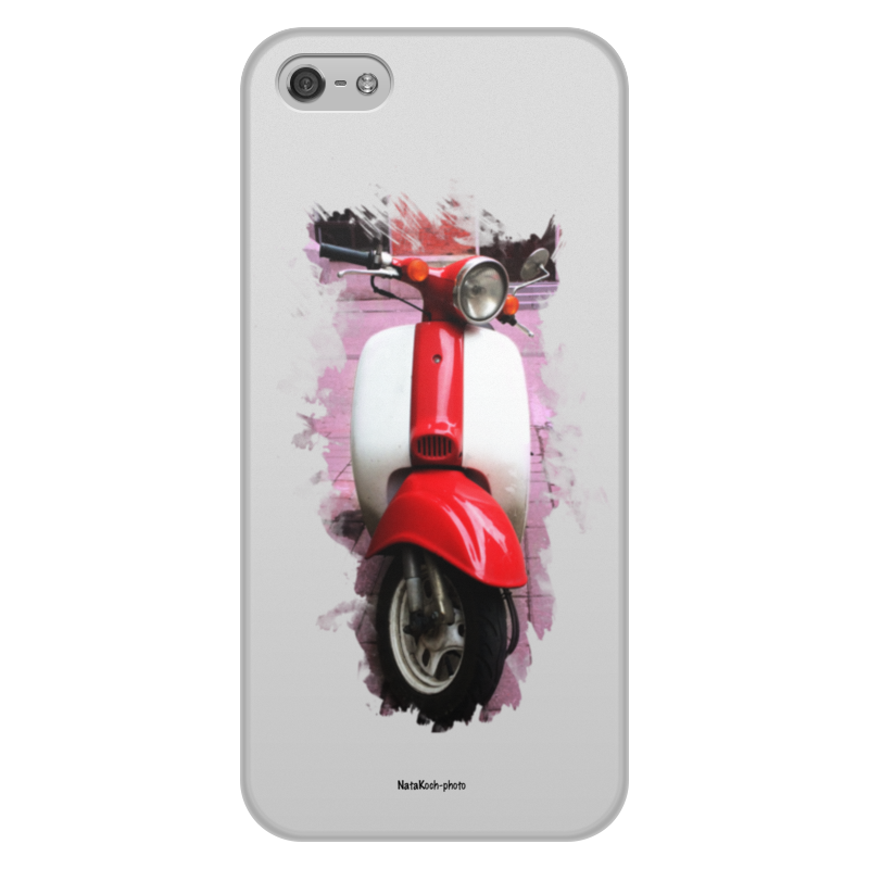 Чехол для iPhone 5/5S, объёмная печать Printio Скутер акустика на скутер по почте наложенным платежом