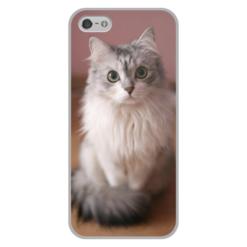 Чехол для iPhone 5/5S, объёмная печать Printio Кошка чехол fonexion city girls для iphone 5s 5 зеленый