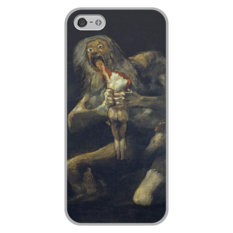 Чехол для iPhone 5/5S, объёмная печать Printio Сатурн, пожирающий своего сына (гойя)