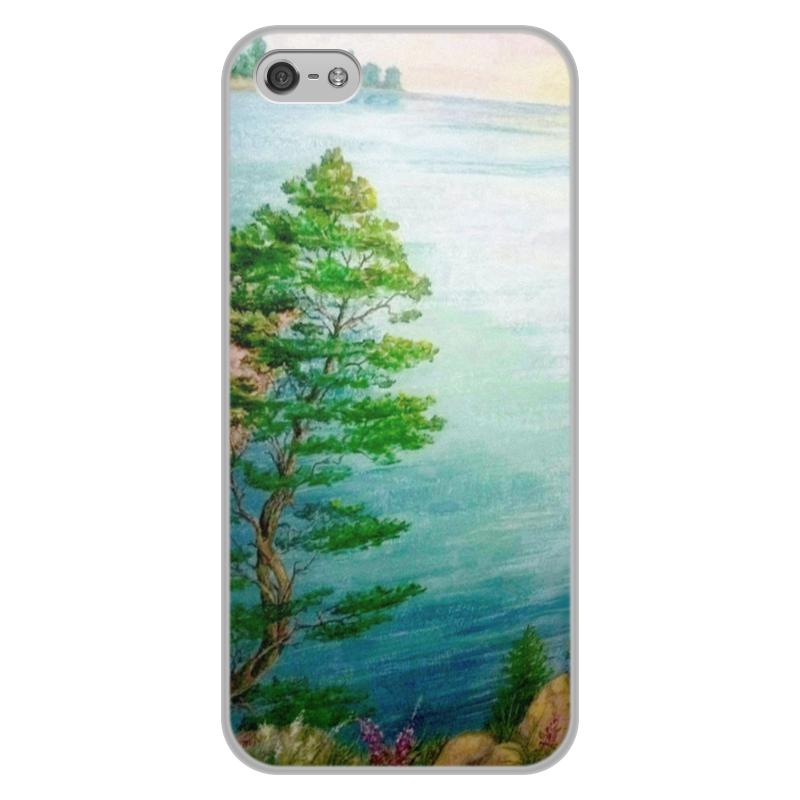 Чехол для iPhone 5/5S, объёмная печать Printio Песчаный берег стоимость