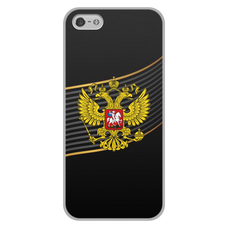 Чехол для iPhone 5/5S, объёмная печать Printio Герб рф цена и фото