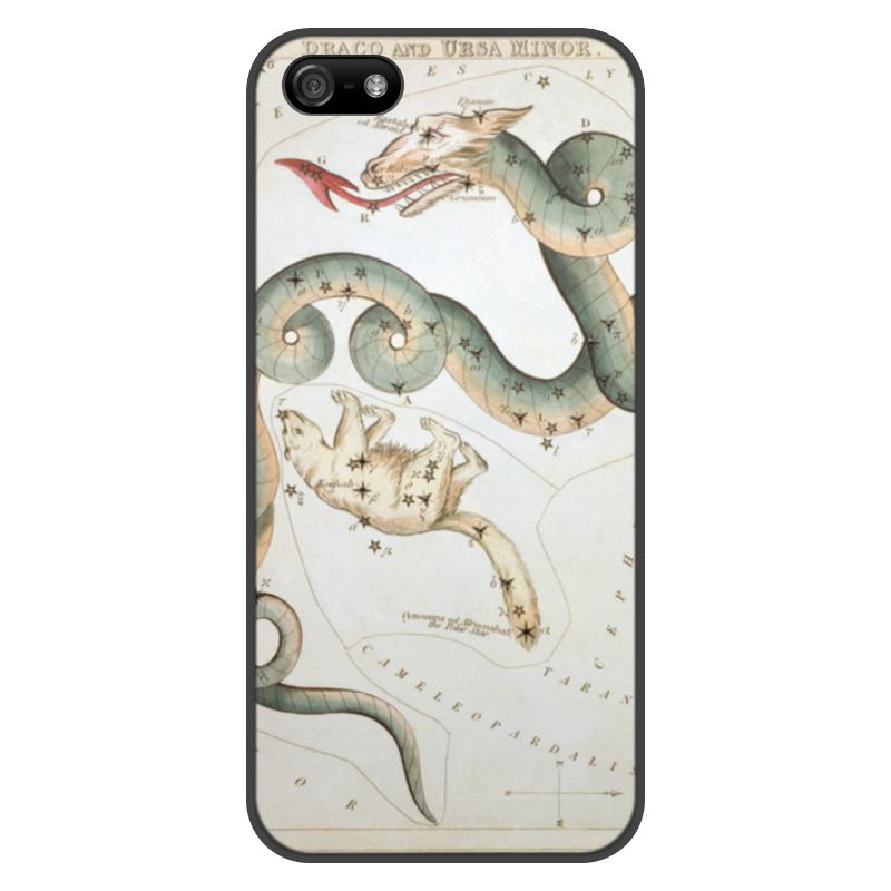 Чехол для iPhone 5/5S, объёмная печать Printio Дракон и малая медведица (зеркало урании)