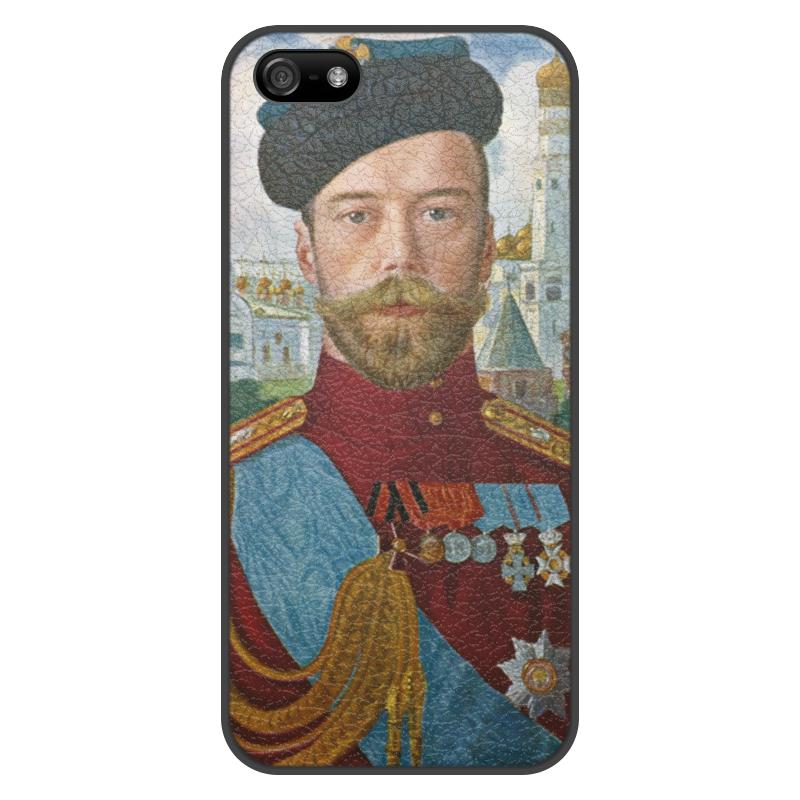 лучшая цена Чехол для iPhone 5/5S, объёмная печать Printio Царь николай ii (борис кустодиев)