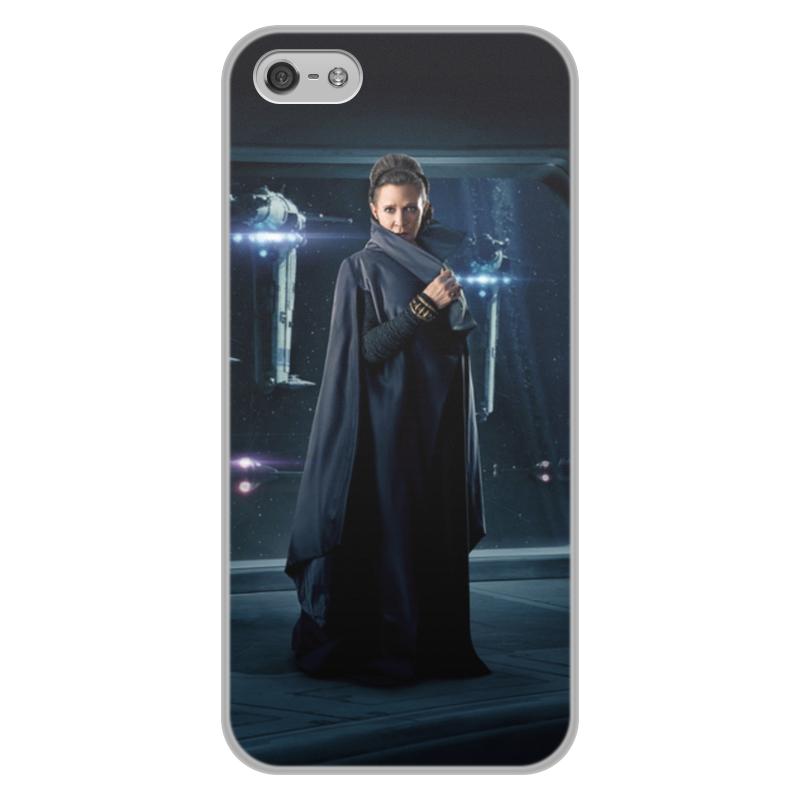 Чехол для iPhone 5/5S, объёмная печать Printio Звездные войны - лея цена