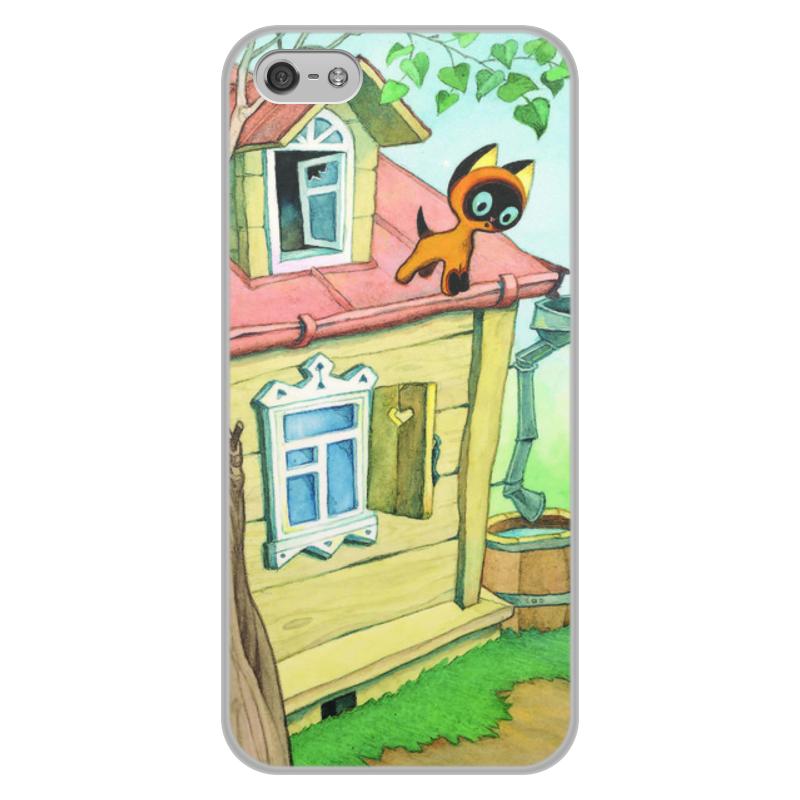 Чехол для iPhone 5/5S, объёмная печать Printio Котенок гав цена и фото