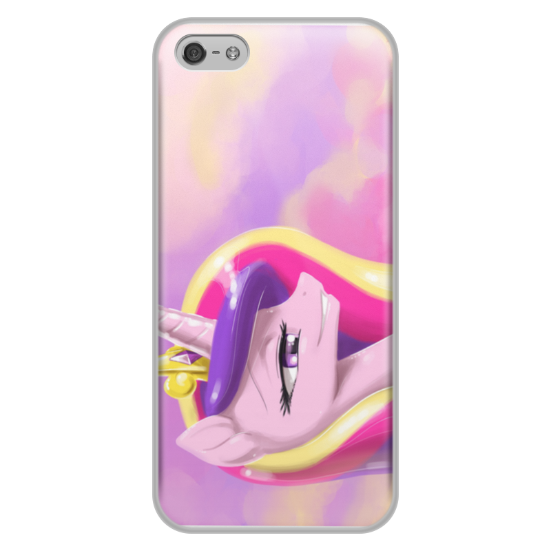 Чехол для iPhone 5/5S, объёмная печать Printio My little pony alignment highlight rubber triangle eraser white