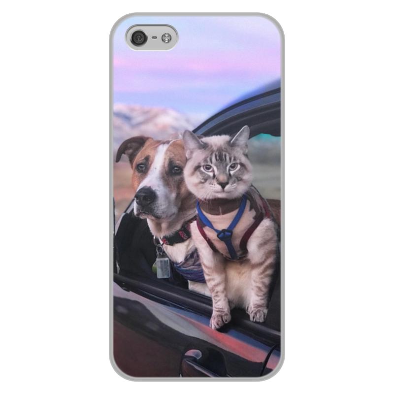лучшая цена Чехол для iPhone 5/5S, объёмная печать Printio Генри и балу
