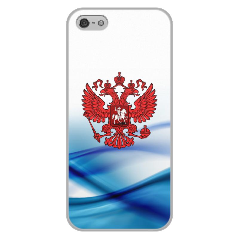 лучшая цена Чехол для iPhone 5/5S, объёмная печать Printio Герб россии