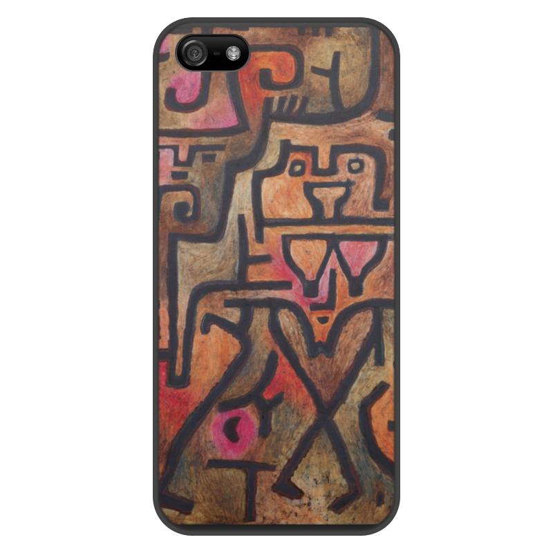 Чехол для iPhone 5/5S, объёмная печать Printio Лесные ведьмы (пауль клее) чехол для samsung galaxy s5 printio лесные ведьмы пауль клее