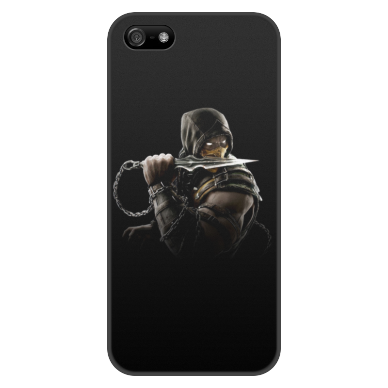Чехол для iPhone 5/5S, объёмная печать Printio Mortal kombat (scorpion) protective anti radiation aviation aluminum alloy bumper frame case for iphone 5 5s