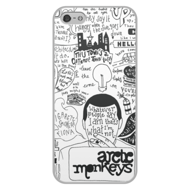 Чехол для iPhone 5/5S, объёмная печать Printio Arctic monkeys umi touch android 6 0 smartphone touch id 5 5 inch phones
