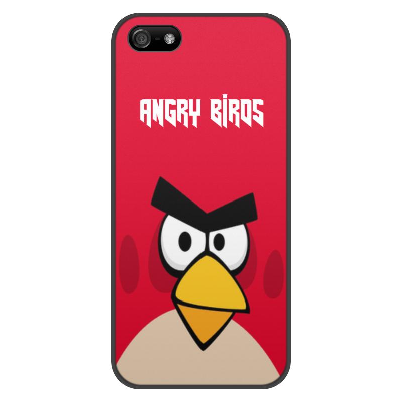 Чехол для iPhone 5/5S, объёмная печать Printio Angry birds (terence) чехол для iphone 4 4s angry birds 1 401