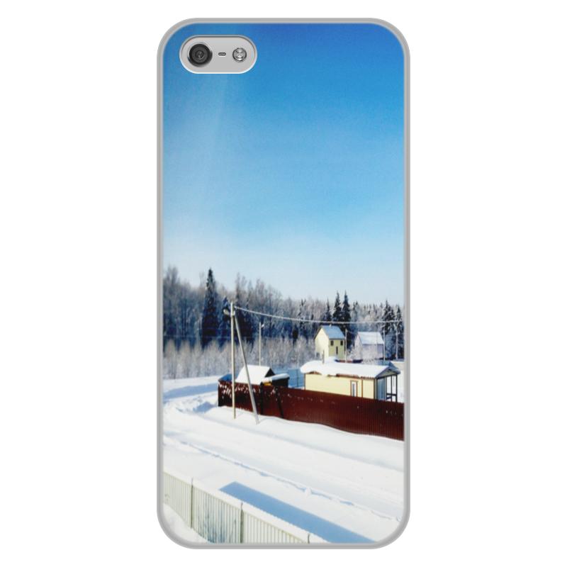 Чехол для iPhone 5/5S, объёмная печать Printio Зима. мороз. солнце.