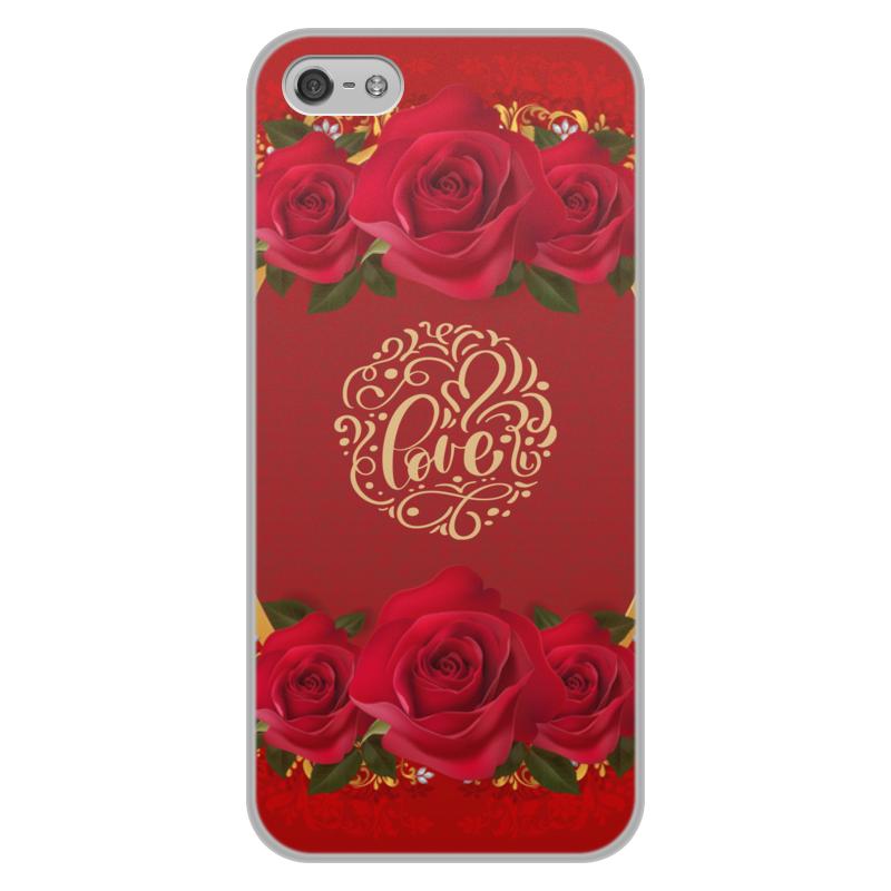 Чехол для iPhone 5/5S, объёмная печать Printio День св. валентина