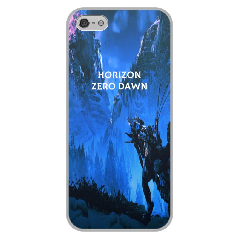 лучшая цена Чехол для iPhone 5/5S, объёмная печать Printio Horizon zero dawn