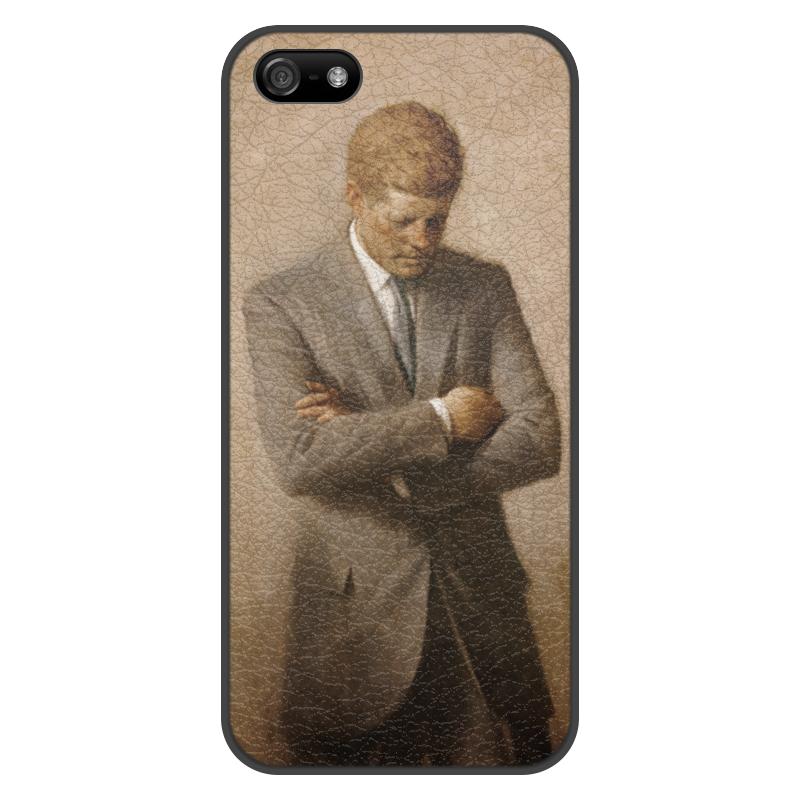 Чехол для iPhone 5/5S, объёмная печать Printio Портрет президента джона ф. кеннеди.