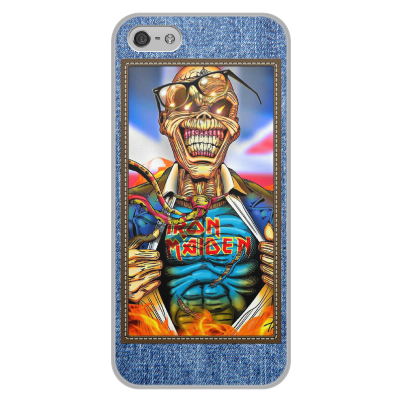 Чехол для iPhone 5/5S, объёмная печать Printio Iron maiden patch original new innolux 5 6 inch at056tn53 v 1 lcd screen with touch