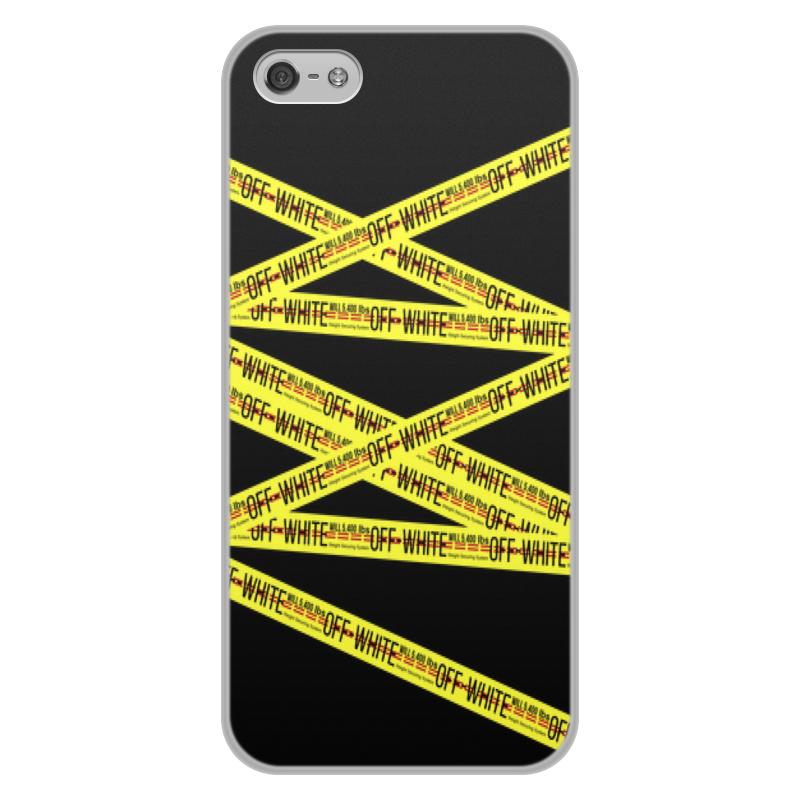 Чехол для iPhone 5/5S, объёмная печать Printio Off-white