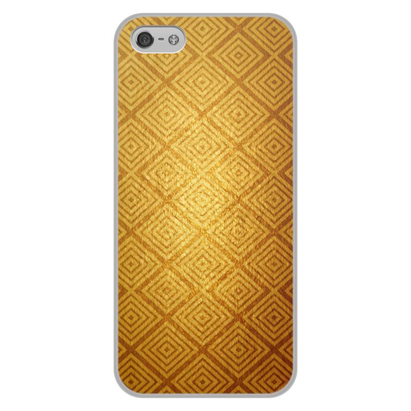 Printio Золотой узор чехол для iphone 5 5s объёмная печать printio дудл узор