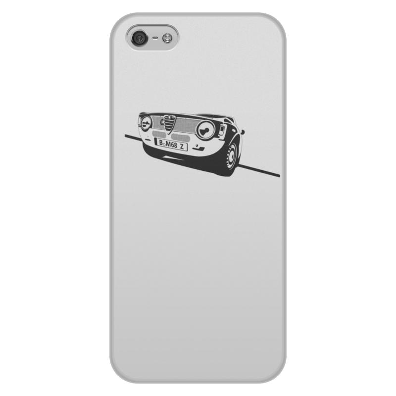 Чехол для iPhone 5/5S, объёмная печать Printio Retro alfa romeo racing чехол для декоративной подушки alfa romeo 45х45 см p02 9691 1