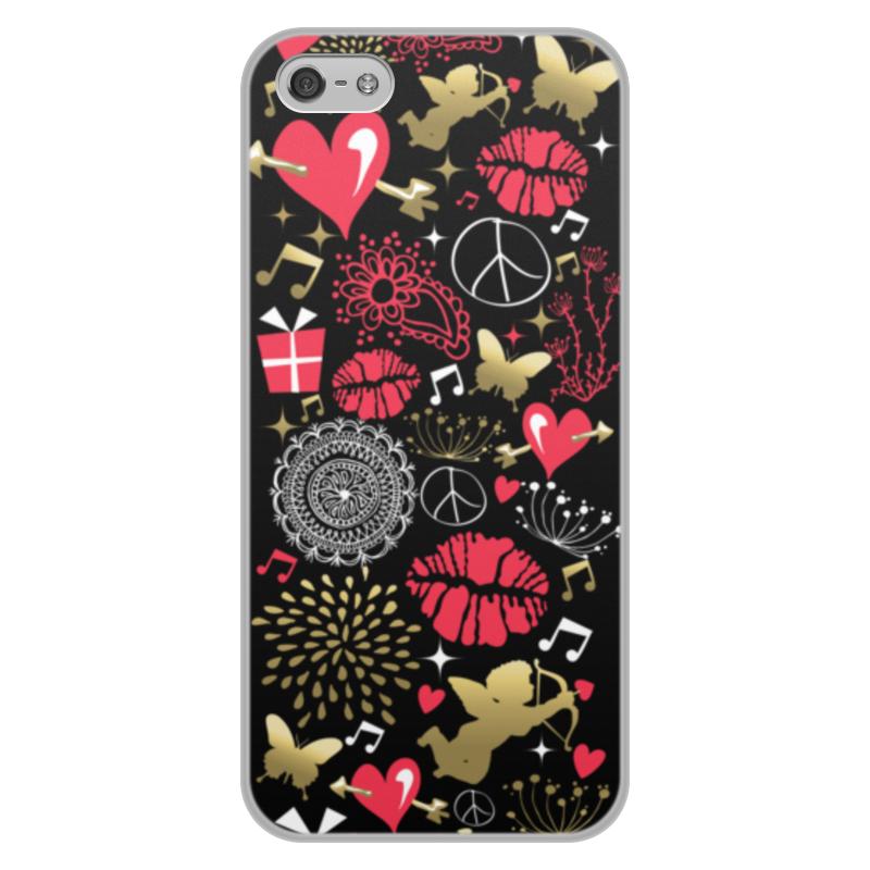 Чехол для iPhone 5/5S, объёмная печать Printio Валентинка цена и фото