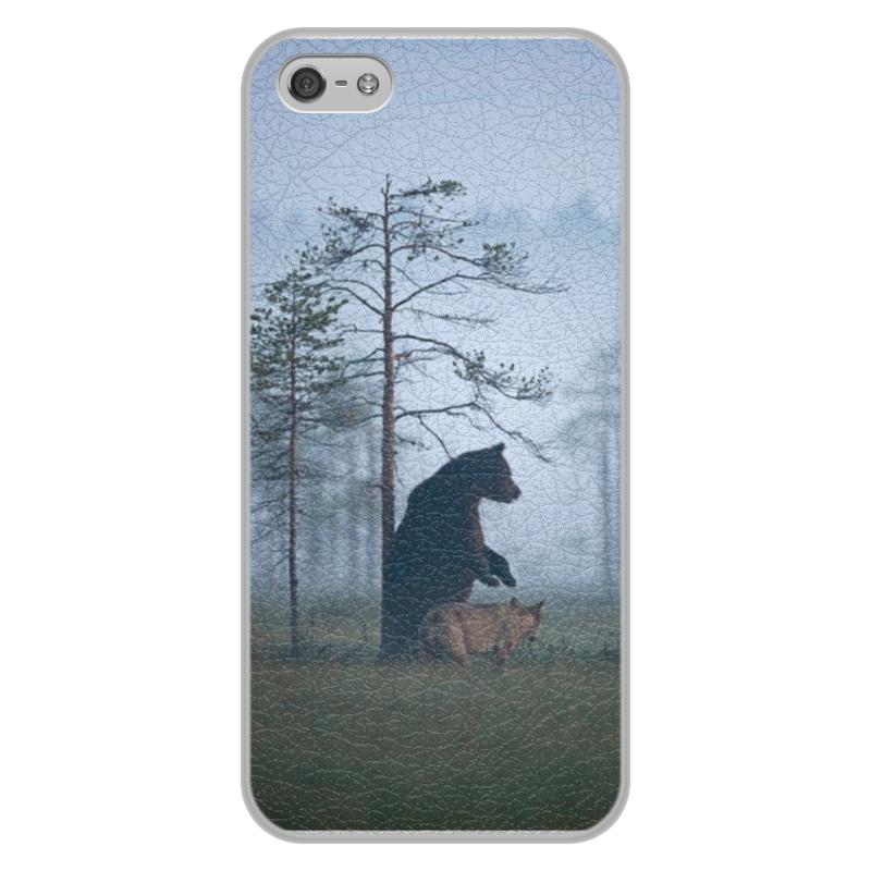 Чехол для iPhone 5/5S, объёмная печать Printio Мишка и волк чехол для iphone 7 объёмная печать printio мишка и волк