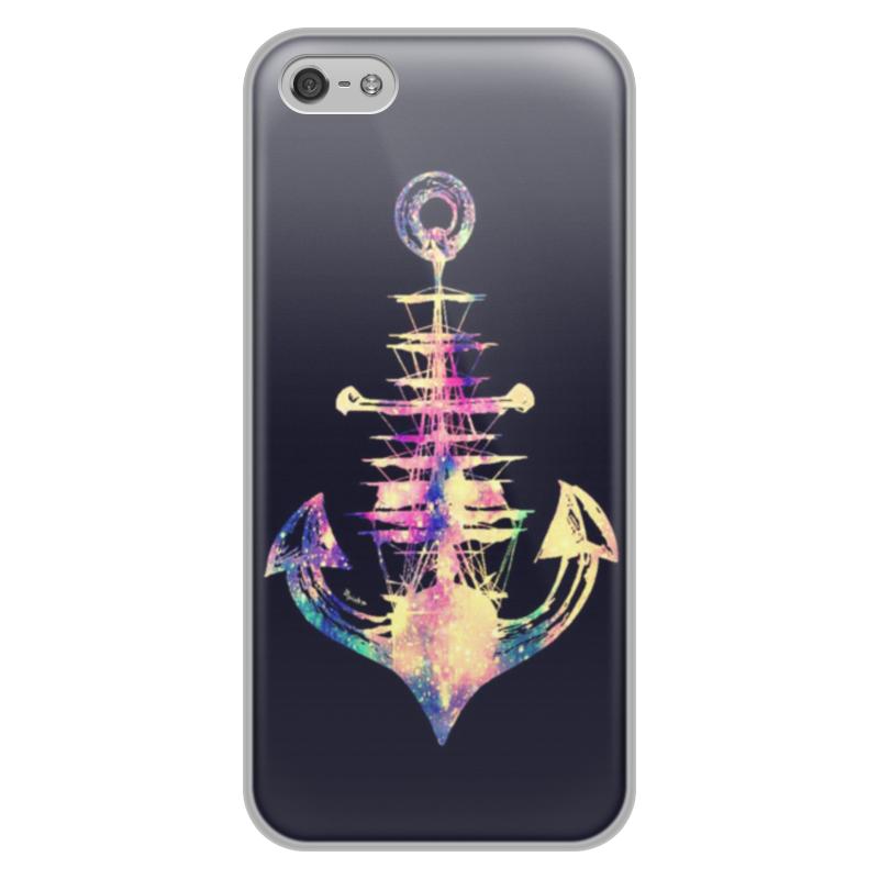 Чехол для iPhone 5/5S, объёмная печать Printio Якорь protective anti radiation aviation aluminum alloy bumper frame case for iphone 5 5s