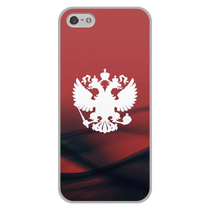 Чехол для iPhone 5/5S, объёмная печать Printio Герб россии цена и фото
