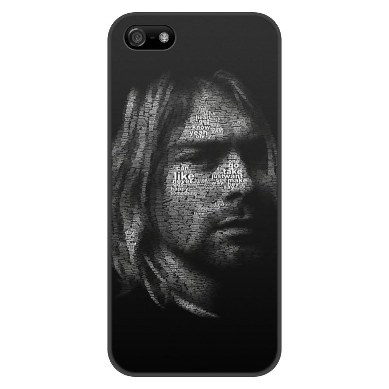 Чехол для iPhone 5/5S, объёмная печать Printio Курт кобейн цена и фото