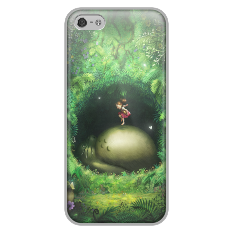 Чехол для iPhone 5/5S, объёмная печать Printio Тоторо fairy apple orchard print wall blanket tapestry