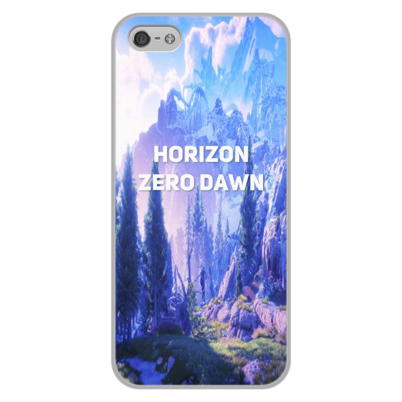 Чехол для iPhone 5/5S, объёмная печать Printio Horizon zero dawn чехол soft ica для iphone 5 5s розовый