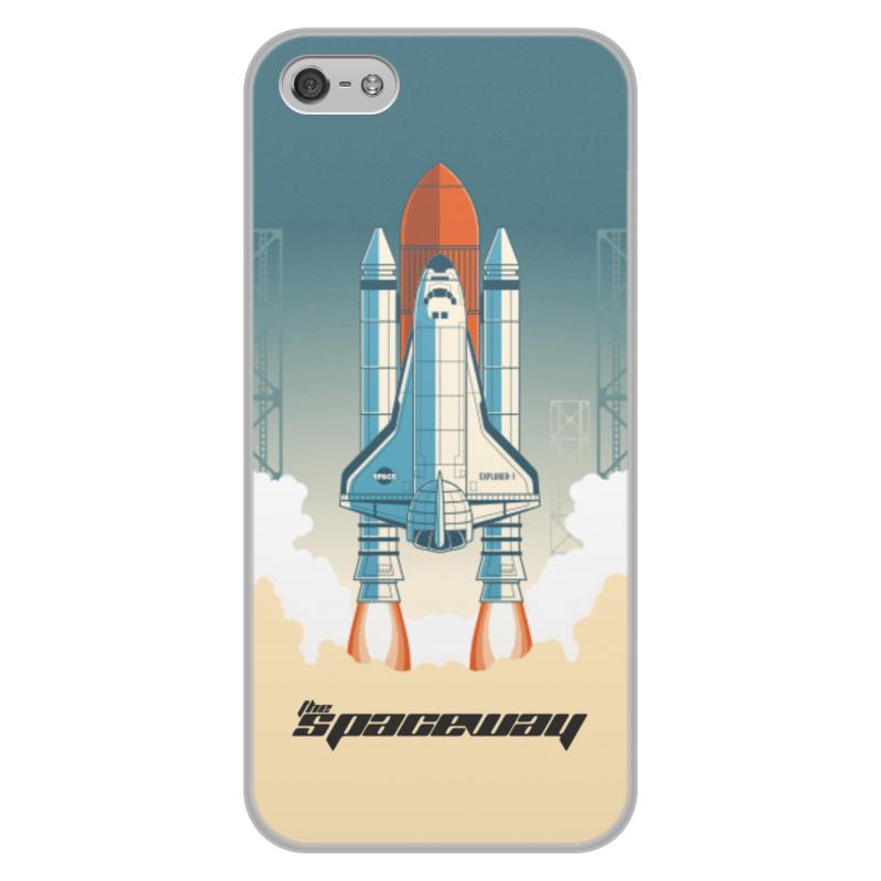 лучшая цена Чехол для iPhone 5/5S, объёмная печать Printio Покорение космоса