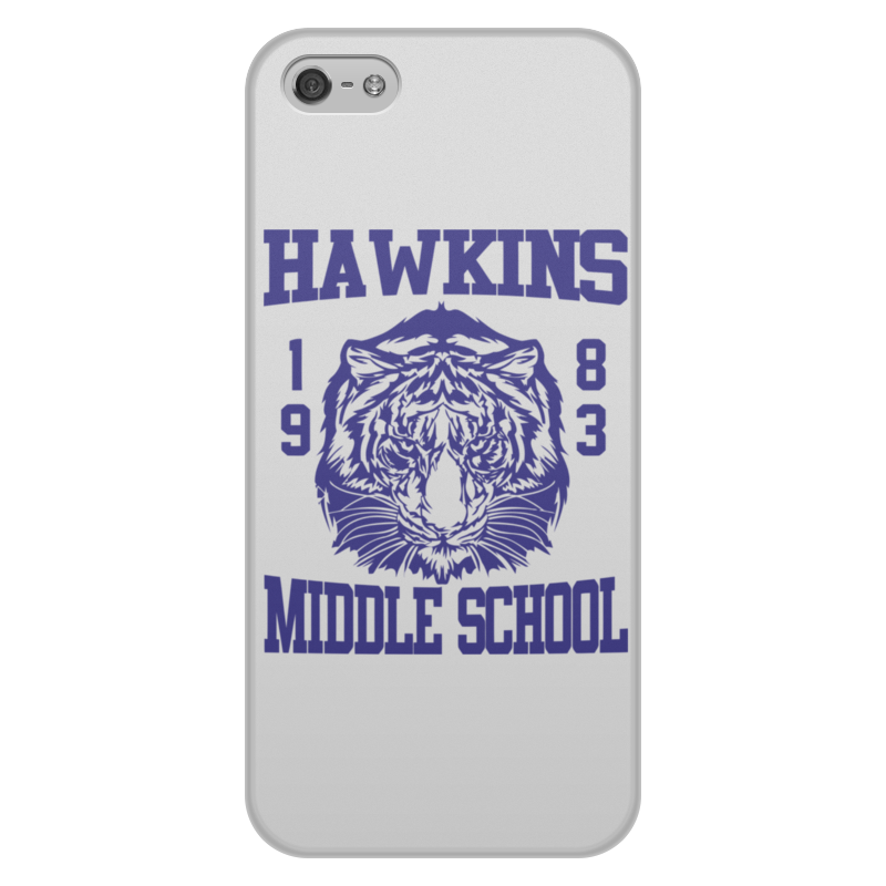 цена на Чехол для iPhone 5/5S, объёмная печать Printio Hawkins middle school
