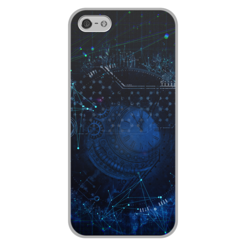 Чехол для iPhone 5/5S, объёмная печать Printio Техно чехол для iphone 5 ажур синий