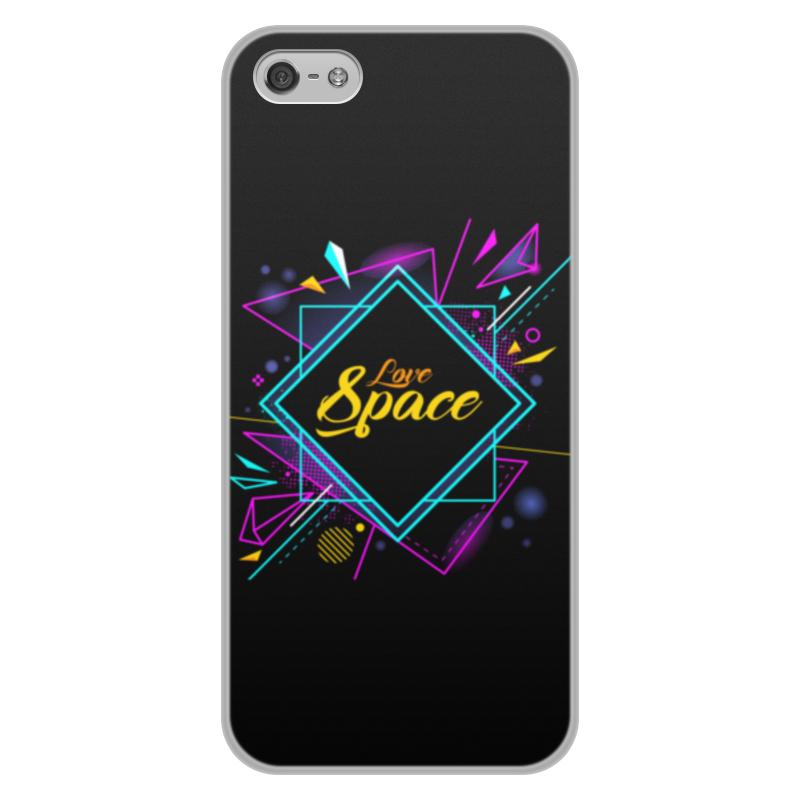 где купить Чехол для iPhone 5/5S, объёмная печать Printio Love space дешево