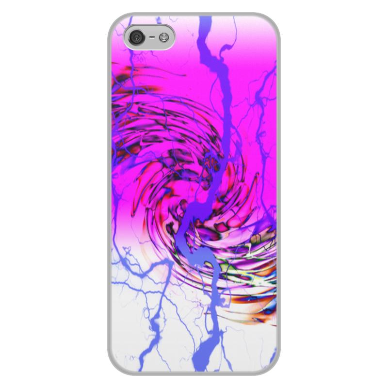 Printio Узор красок чехол для iphone 5 5s объёмная печать printio дудл узор