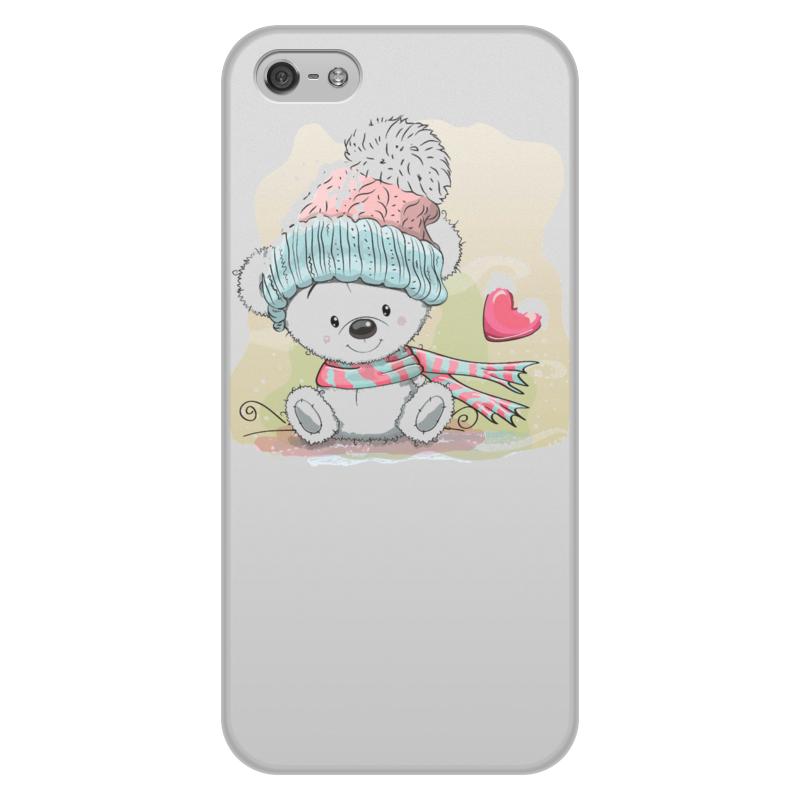 лучшая цена Чехол для iPhone 5/5S, объёмная печать Printio Медвежонок