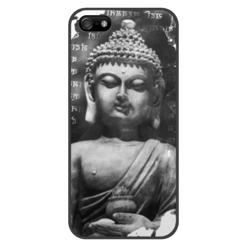 лучшая цена Чехол для iPhone 5/5S, объёмная печать Printio Будда (письмена)