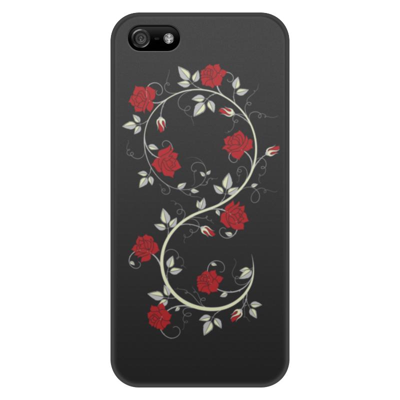 Фото - Чехол для iPhone 5/5S, объёмная печать Printio Красные розы чехол для iphone x объёмная печать printio лепестки розы