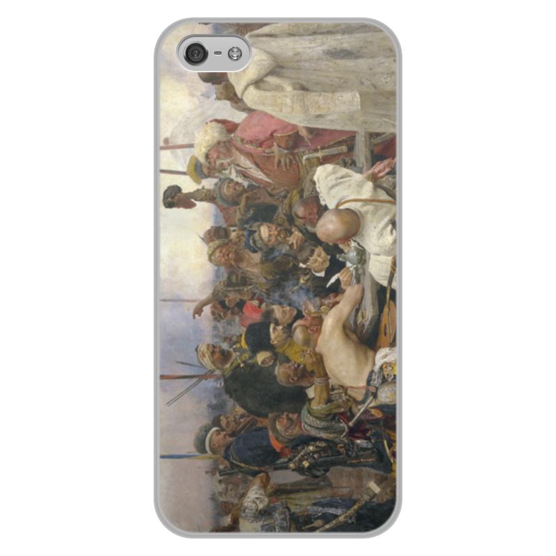 Чехол для iPhone 5/5S, объёмная печать Printio Запорожцы (картина репина) картина запорожцы пишут письмо турецкому султану история создания