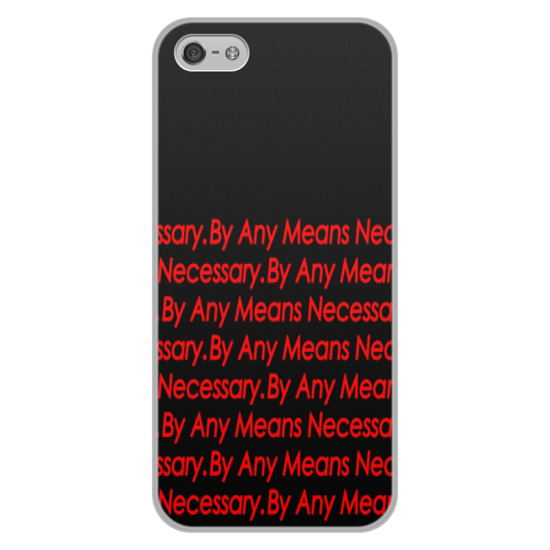 лучшая цена Чехол для iPhone 5/5S, объёмная печать Printio By any means necessary