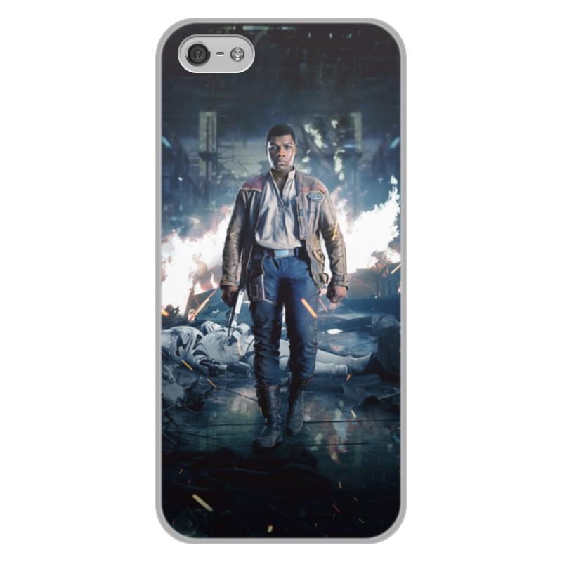 Чехол для iPhone 5/5S, объёмная печать Printio Звездные войны - финн ультра тонкий 0 7 мм тонкий алюминиевый металл рамки бампера чехол для iphone 5 5s