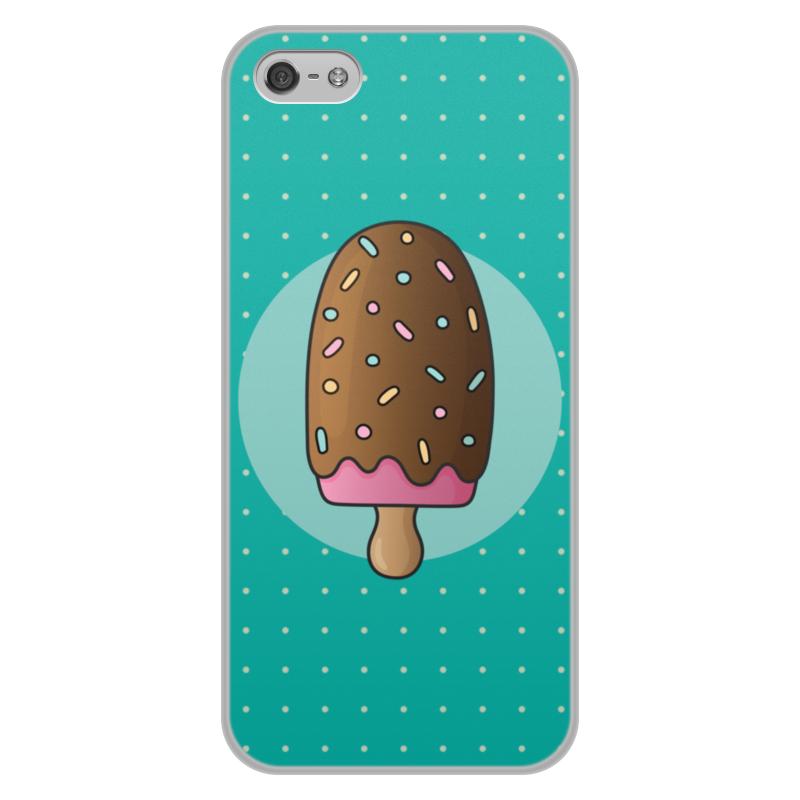 Чехол для iPhone 5/5S, объёмная печать Printio Мороженое чехол для iphone 5 5s объёмная печать printio орео