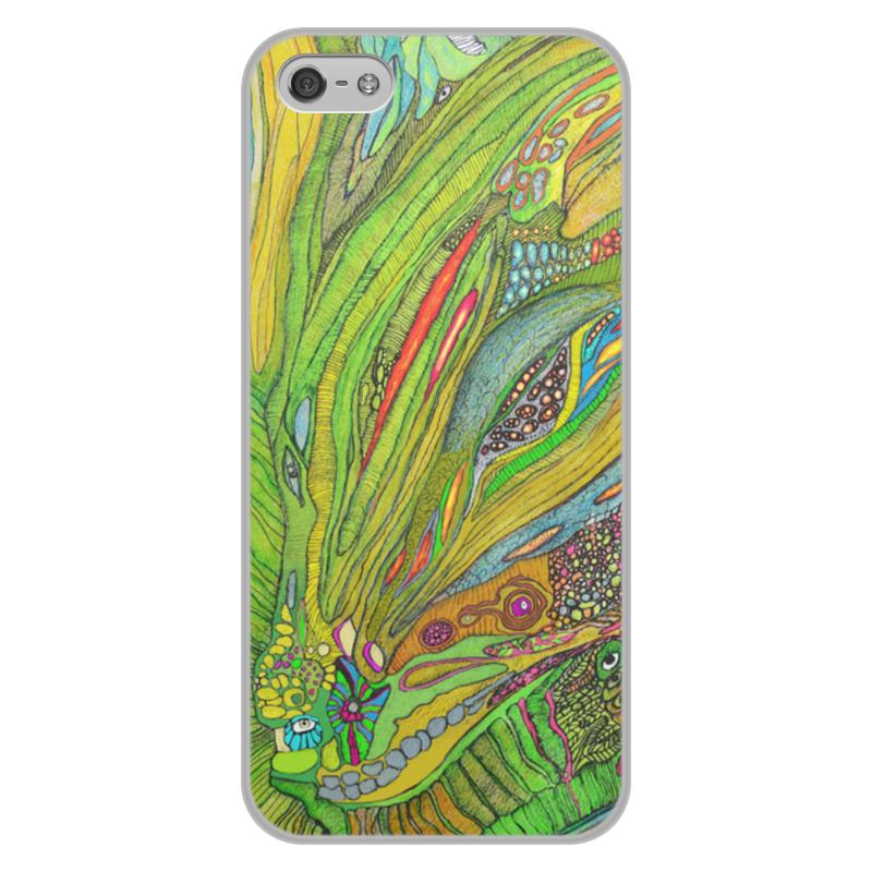 лучшая цена Чехол для iPhone 5/5S, объёмная печать Printio Ом дракон