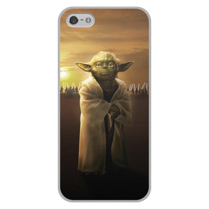 Чехол для iPhone 5/5S, объёмная печать Printio Звездные войны - йода