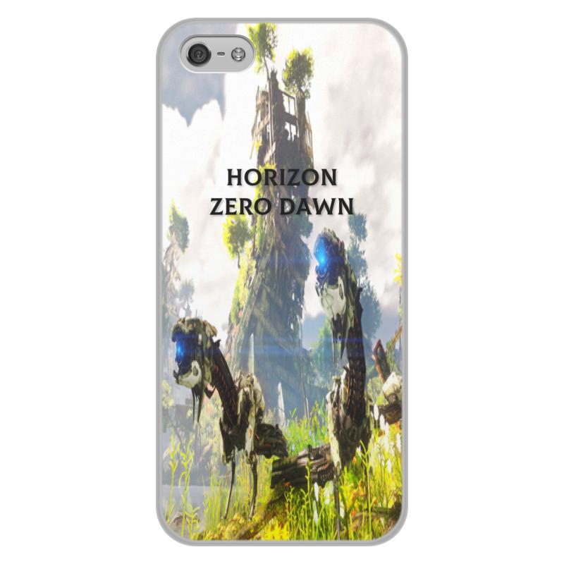 все цены на Чехол для iPhone 5/5S, объёмная печать Printio Horizon zero dawn онлайн