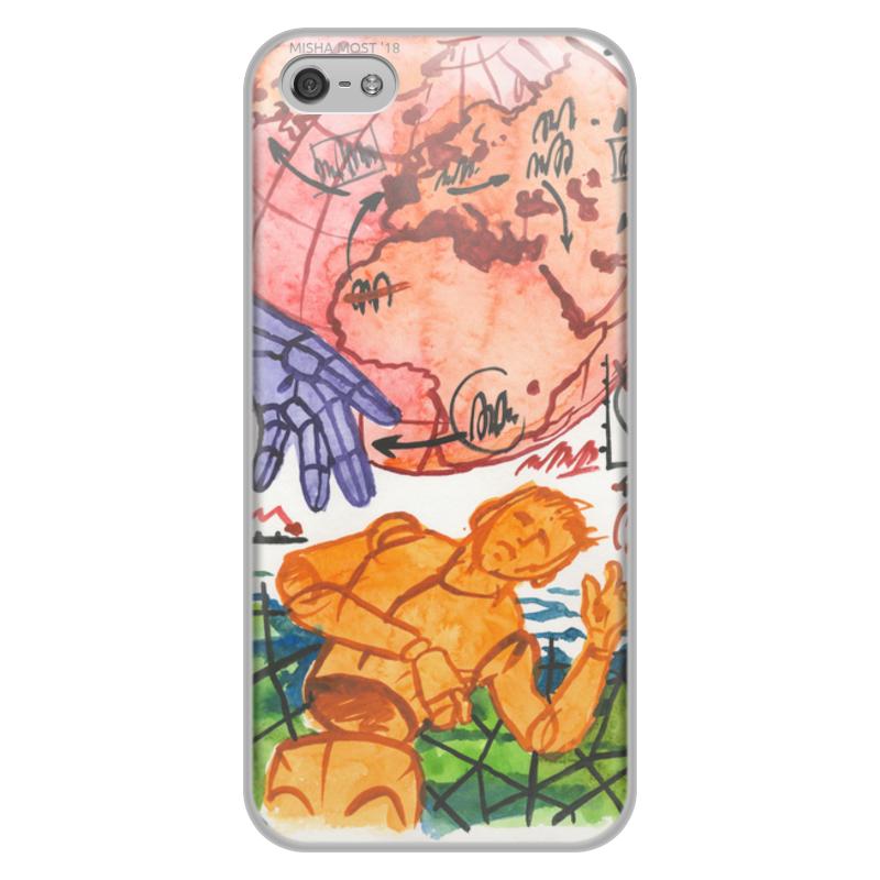 все цены на Чехол для iPhone 5/5S, объёмная печать Printio Без названия онлайн