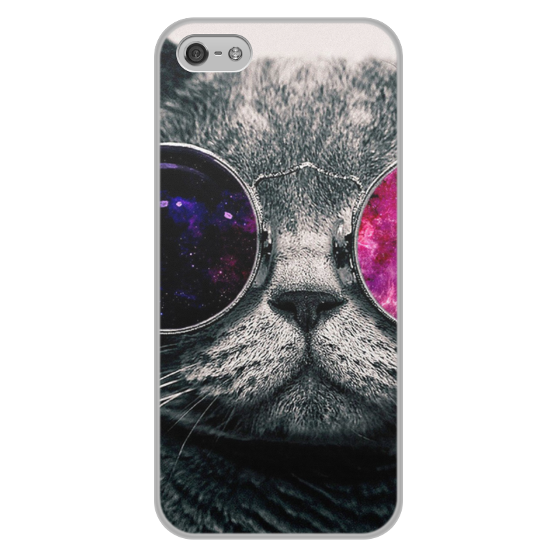 Чехол для iPhone 5/5S, объёмная печать Printio Кот кошка цена